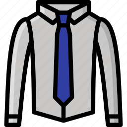 clothing, colour, mens, shirt, smart, tie icon