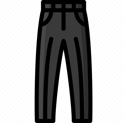 clothing, colour, mens, smart, trousers icon