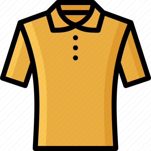 Clothing, collared, colour, mens, shirt, tshirt icon - Download on Iconfinder