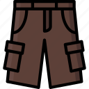 cargo, clothing, colour, mens, shorts icon