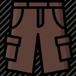 cargo, clothing, colour, mens, shorts icon