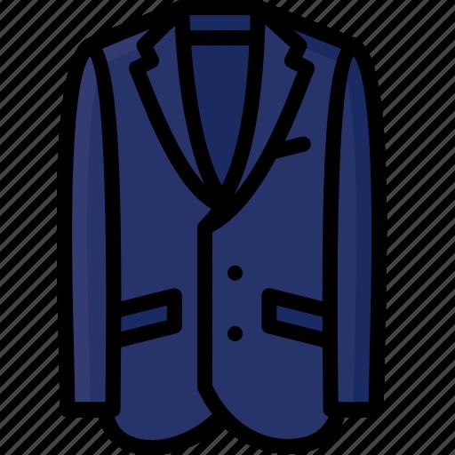 blazer, clothing, colour, jacket, mens, suit icon