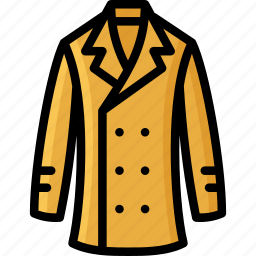 clothing, coat, colour, mens, trench icon