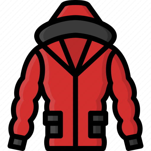 Clothing, coat, colour, mens, puffer icon - Download on Iconfinder