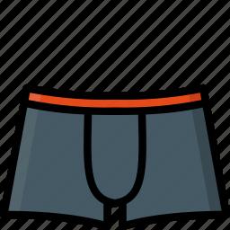 boxers, clothing, colour, mens, underwear icon