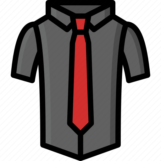 clothing, colour, mens, shirt, short, sleeved, tie icon