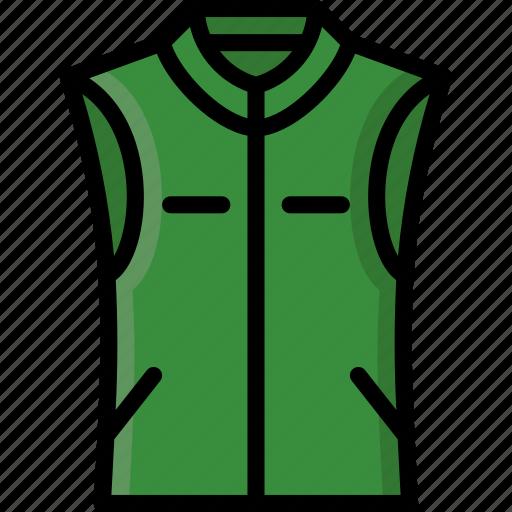 body, clothing, colour, mens, waistcoat, warmer icon