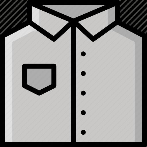 clothing, colour, folded, mens, shirt icon