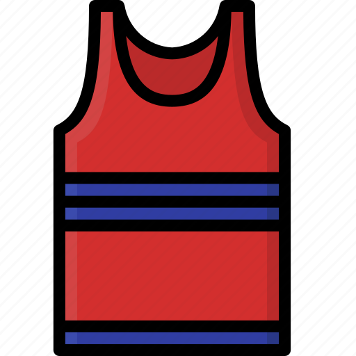 clothing, colour, mens, tank, top, vest icon