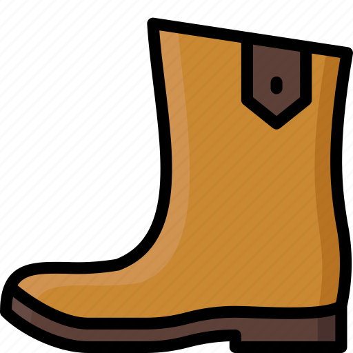 boot, clothing, colour, leather, mens, shoe icon
