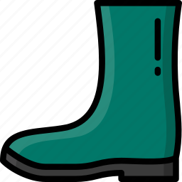 boot, clothing, colour, mens, wellington icon
