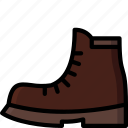 boot, clothing, colour, mens, shoe icon