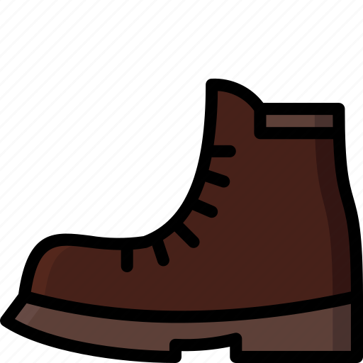 Boot, clothing, colour, mens, shoe icon - Download on Iconfinder