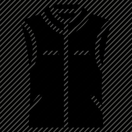 body, clothing, mens, solid, waistcoat, warmer icon