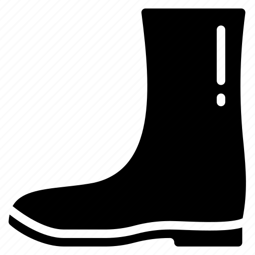 Boot, clothing, mens, solid, wellington icon - Download on Iconfinder