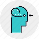 brain, head, mental, perception, sense icon