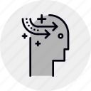 brain, education, learning, mastery, self, skill icon