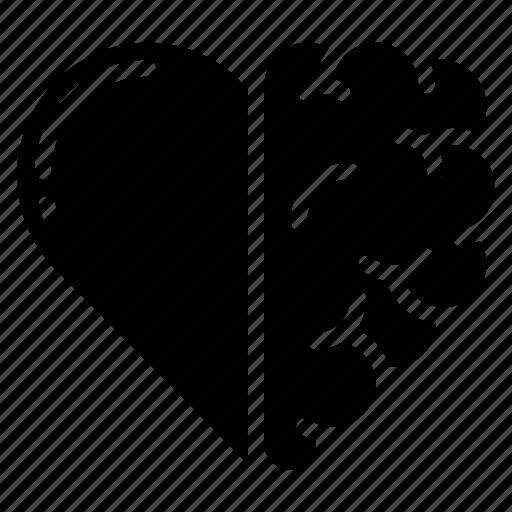 Mental Health Logo Set: Brain, Health , Heart, Love, Mental Icon
