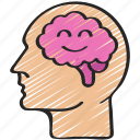 happy, mental, positive, psychology, state, thearpy icon