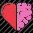 brain, health, heart, love, mental icon