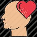 health, heart, love, mental, psychology, self icon