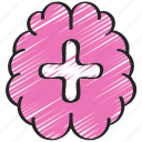 brain, health, mental, psychology, support, thearpy icon