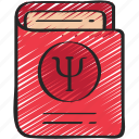book, health, learning, mental, psychology, support icon