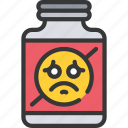 anti, depressant, health, mental, pills, psychology icon