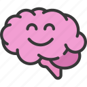 brain, happy, health, mental, positive, smile icon