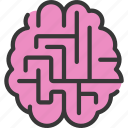 support, maze, health, mental, psychology, thearpy icon