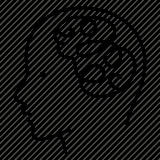 empathy, focus, medical, mental health, mind, problem, success icon