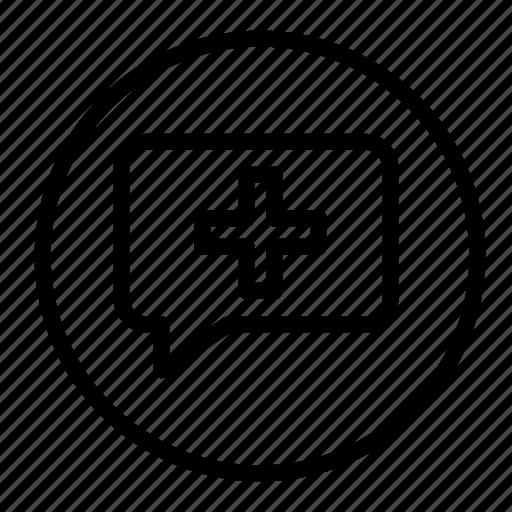 bubble, chat, comment, comments, communication, message, plus icon