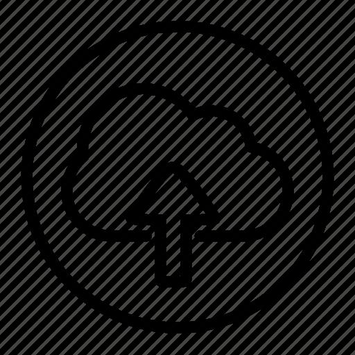 cloud, data, internet, network, storage, upload icon