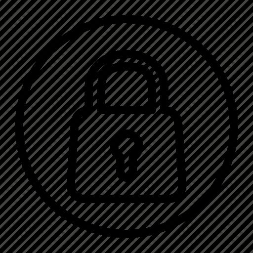 lock, locked, padlock, password, security, shield icon