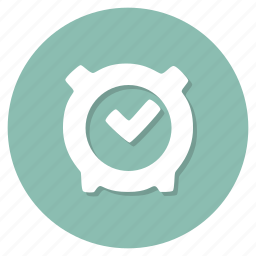 alarm, on, stopwatch, time icon