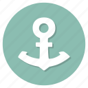 anchor, boat, nautical, sea, ship icon