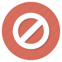 denied, forbidden, no, stop icon