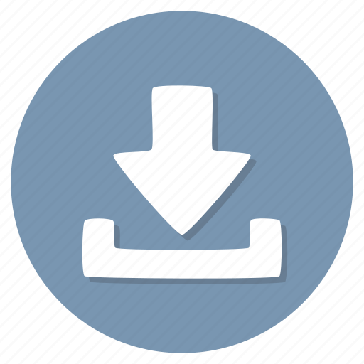 arrow, download, storage icon
