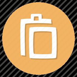 document, paper, paste icon