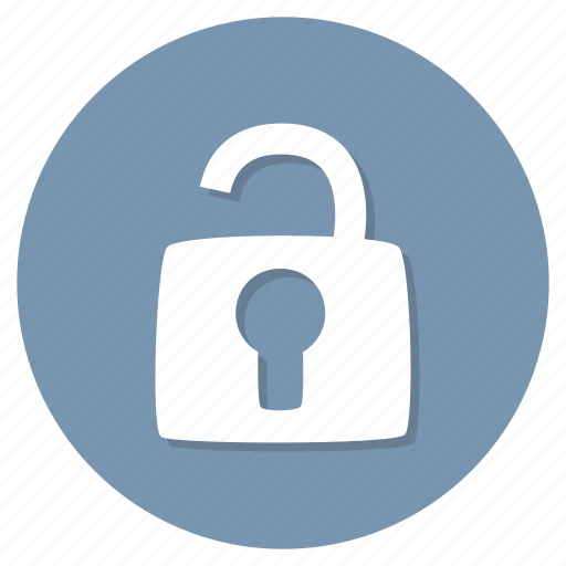privacy, security, unlocked icon