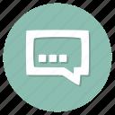 chat, comment, message