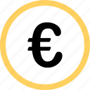 euro, menu, navigation, option, pay, sign icon