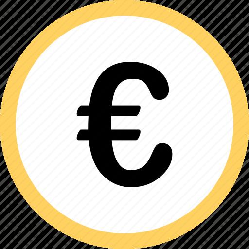 euro, menu, navigation, option, pay, sign icon