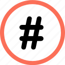connect, hashtag, menu, navigation, option icon