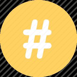 hashtag, menu, navigation, pound, sign icon
