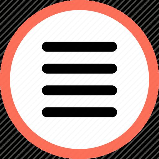 hamburger, lines, menu, navigation, option icon