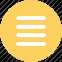 lines, menu, navigation, options icon
