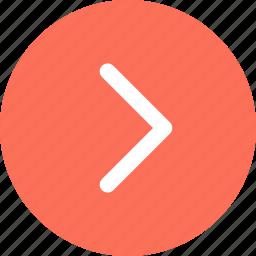 arrow, go, menu, navigation icon