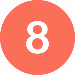 eight, menu, navigation, number icon