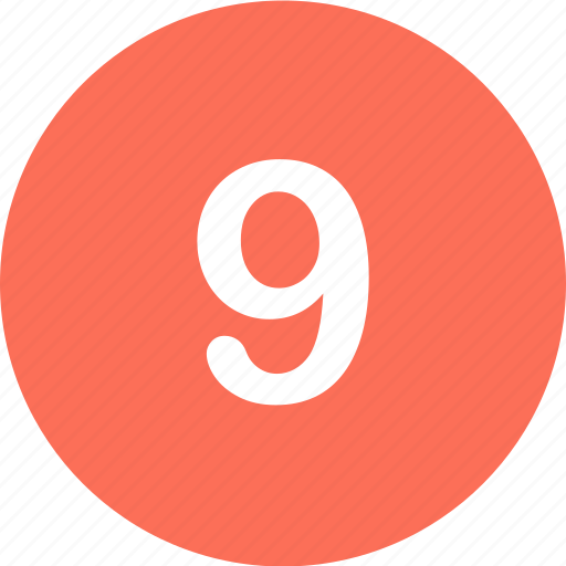 menu, navigation, nine, number icon
